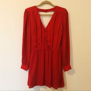 Parker Bright Red Chiffon Dress